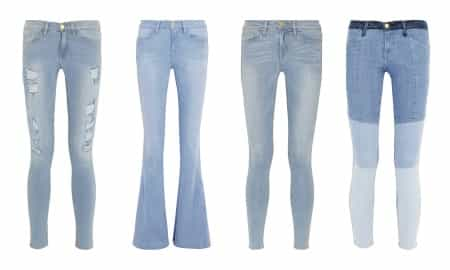 LIGHT DENIM JEANS -What to wear with them?