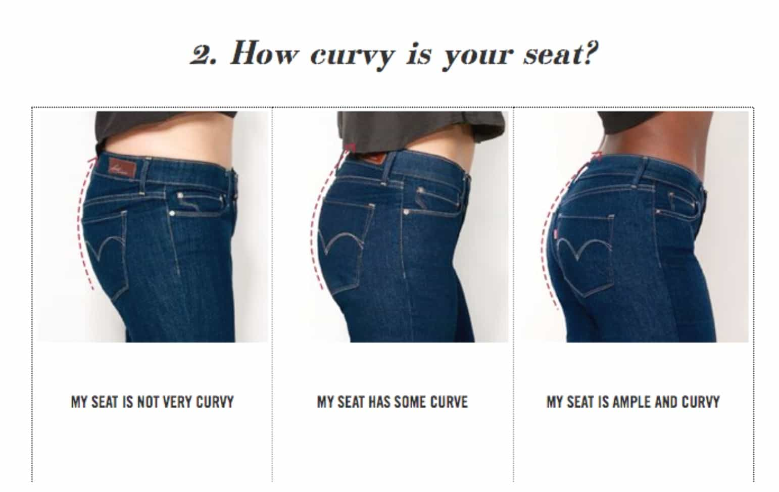 Favori DISCOVER YOUR CURVE ID WITH LEVIS - ilovejeans.com CA95