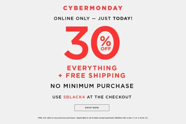 CYBER MONDAY WITH MANGO 30% OFF