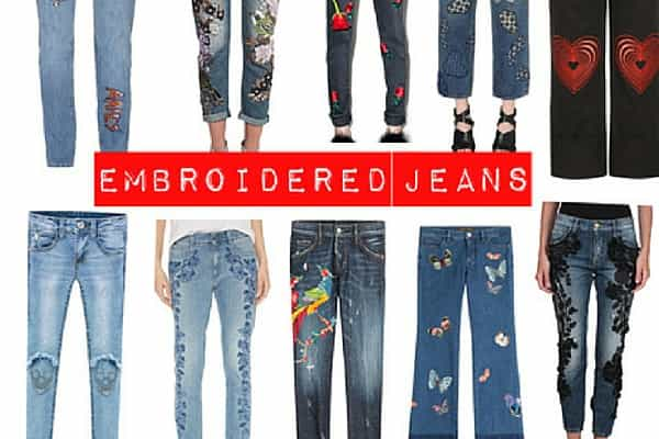 THE FLORA & FAUNA OF EMBROIDERED JEANS