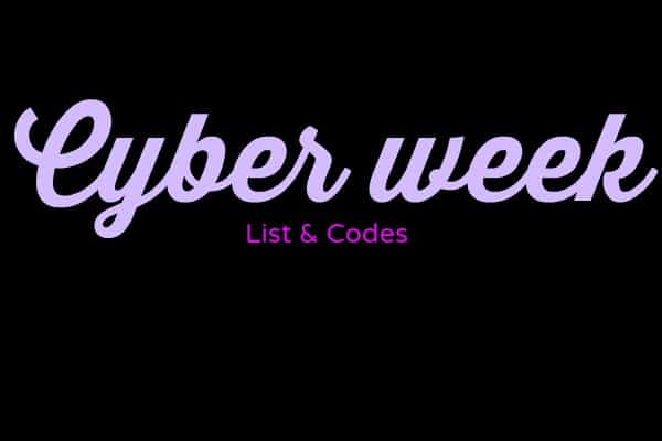 WAIT NO LONGER CYBER WEEK SALE CODES