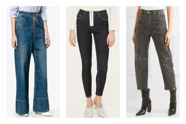 LOVING EXPOSED ZIP TRENDS IN DENIM