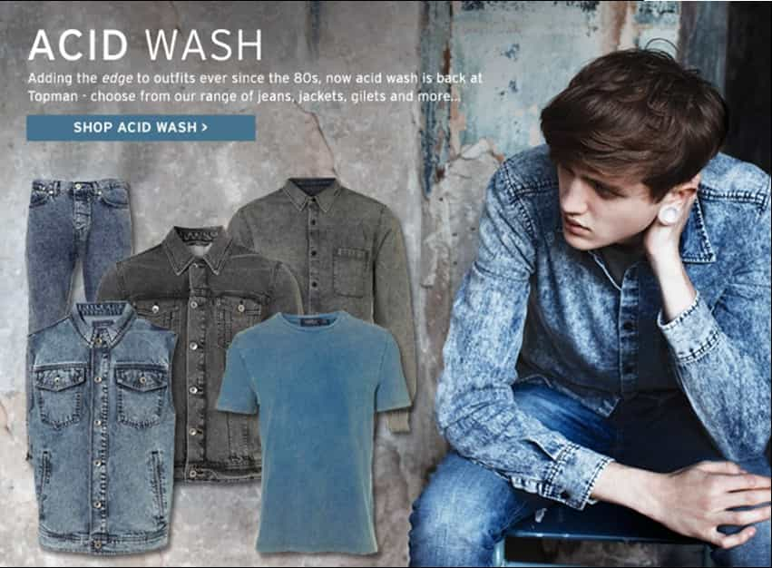 SHOP TOPMAN'S ACID WASH COLLECTION