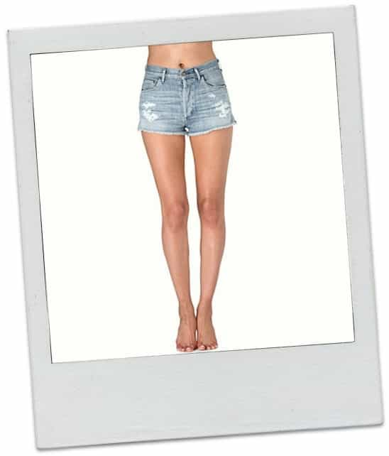 CITIZENS OF HUMANITY Chloe high-waist distressed shorts £220.00 in love worn wash