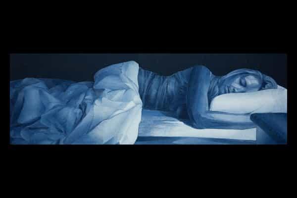 alt= Ian Berry sleeping alone