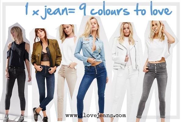 alt=button front jeans