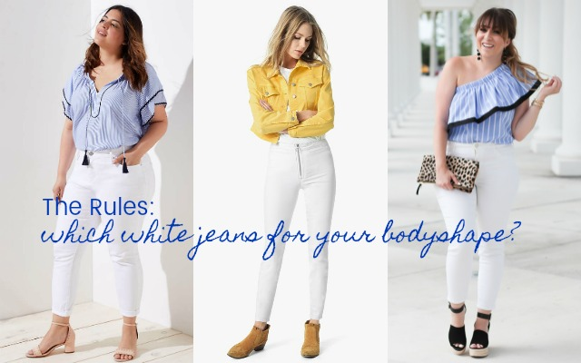 b2c120f99ad THE RULES  WHICH WHITE JEANS FOR YOUR BODYSHAPE   HOW TO WEAR THEM ...