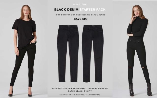 DSTLD black jeans